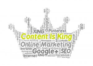 Optimize content for SEO with the idea that content is king for getting noticed by search engines